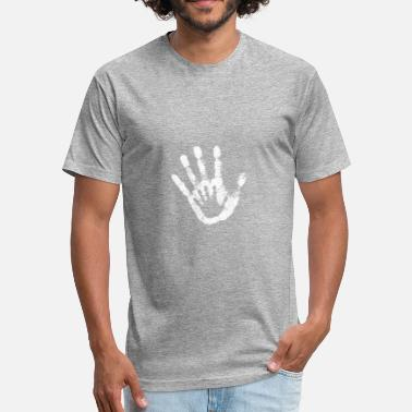 Child Hand Print HAND IN HAND shirt - Unisex Poly Cotton T-Shirt