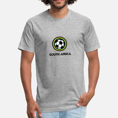 Bafana Bafana South Africa Football Emblem - Fitted Cotton/Poly T-Shirt by Next Level
