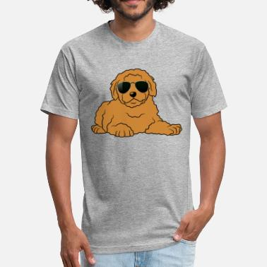 Doodle Doodle Dog Shirt - Doodle With Glasses T shirt - Unisex Poly Cotton T-Shirt
