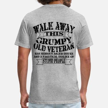 Grandfather Biker Grumpy Old Veteran - Unisex Poly Cotton T-Shirt