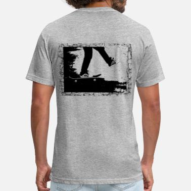 Skateboard Illustration Skateboard - Fitted Cotton/Poly T-Shirt by Next Level