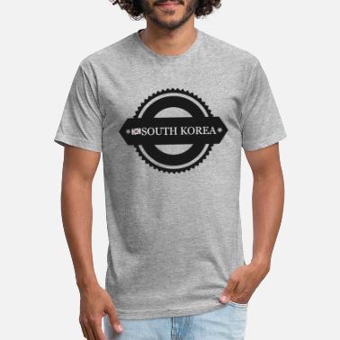 585a05f2d South Korea Flag South Korea with flag - Unisex Poly Cotton T-Shirt