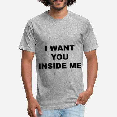 Inside I want you inside me I love you inside me breast - Unisex Poly Cotton T-Shirt