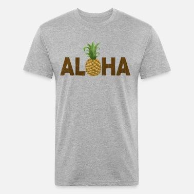 ae1f39623ce Aloha Pineapple Vintage Hawaiian Unisex Tri-Blend T-Shirt