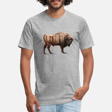 aee56aaccac7 Double Exposure Bisons Forest Double exposure - Unisex Poly Cotton T-Shirt