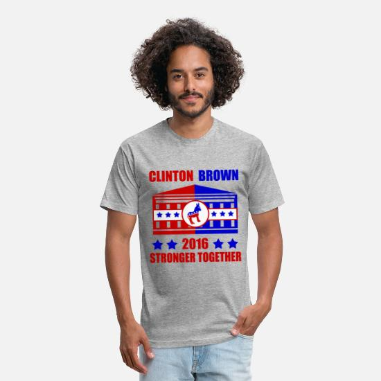 President T-Shirts - BROWN 562 - Unisex Poly Cotton T-Shirt heather gray