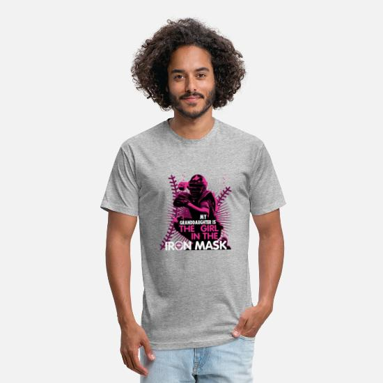 Granddaughter T-Shirts - My Granddaughter Is The Girl In The Iron Mask - Unisex Poly Cotton T-Shirt heather gray