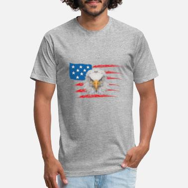 Low Poly Eagle Wild Animal USA - Unisex Poly Cotton T-Shirt