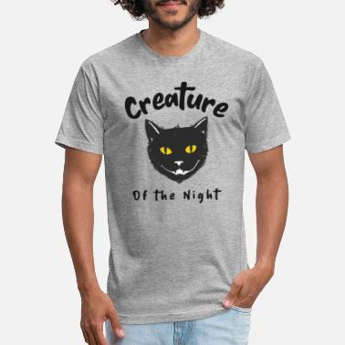 Creature Creature of the Night - For Black Cat Lovers - Unisex Poly Cotton T-Shirt