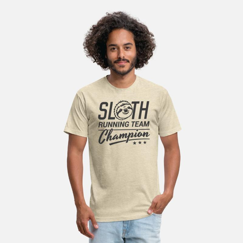 Sloth Running Team Unisex Poly Cotton T Shirt Spreadshirt