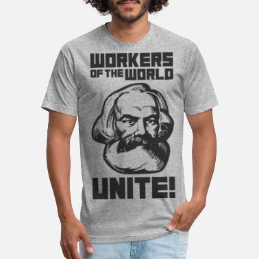 Marx Workers of the World, unite! – Karl Marx (black) - Unisex Poly Cotton T-Shirt