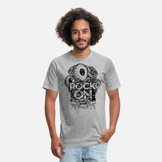 Rock T-Shirts - Rock Bouncer Rock On - Unisex Poly Cotton T-Shirt heather gray
