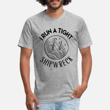 Tight I run a tight shipwreck mom life - Unisex Poly Cotton T-Shirt