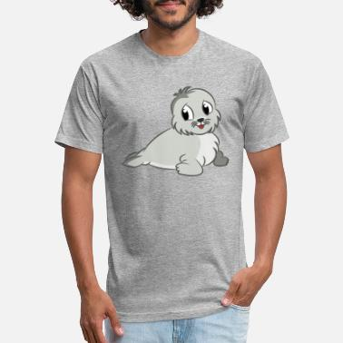 Cute Seal - Unisex Poly Cotton T-Shirt