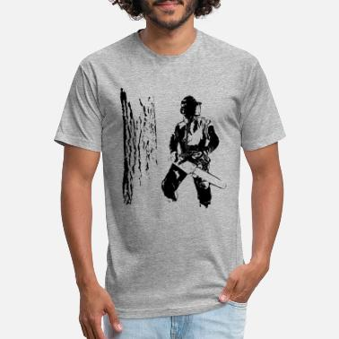Stihl Chainsaw Forestry worker with oak tree - Unisex Poly Cotton T-Shirt