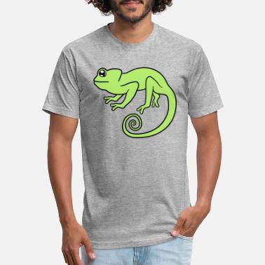 52d593603 Iguana Chameleon chameleon iguana lizard reptile pet dinosaur waran - Unisex  Poly Cotton T-Shirt