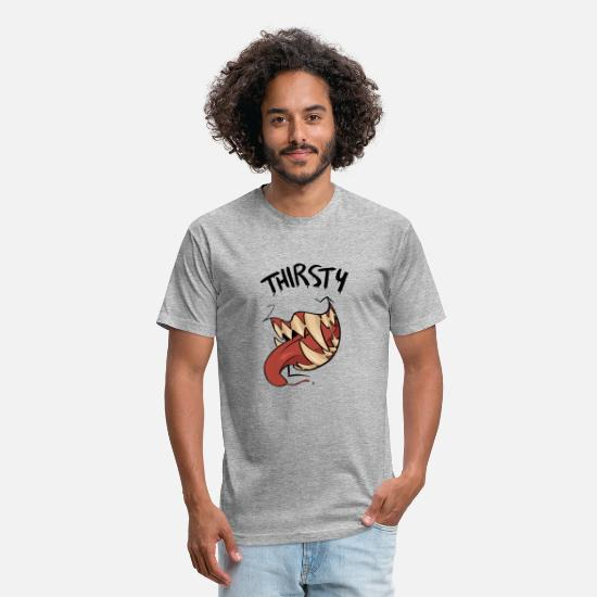 Fusion T-Shirts - THIRSTY - Unisex Poly Cotton T-Shirt heather gray