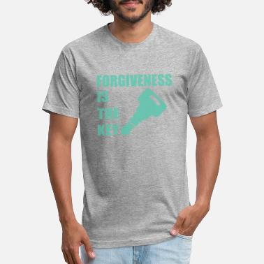 Christian Key Values Blue Forgiveness is the Key Christian Believer - Unisex Poly Cotton T-Shirt