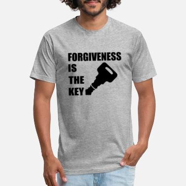 Christian Key Values Black Forgiveness is the Key Christian Believer - Unisex Poly Cotton T-Shirt