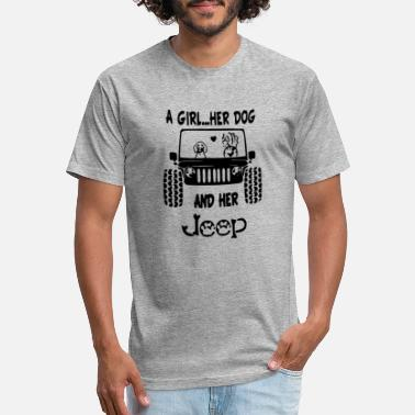 Jeep And Dog Jeep Girl - Unisex Poly Cotton T-Shirt