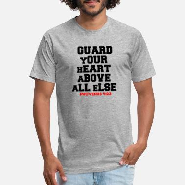 Guard Your Heart GUARD YOUR HEART ABOVE ALL ELSE - Unisex Poly Cotton T-Shirt