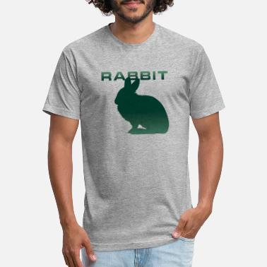 Bunny Tooth Rabbit Silhouette Bunny tooth Rabbits - Unisex Poly Cotton T-Shirt