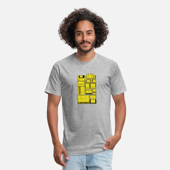 Game T-Shirts - The Cartridge Family - Unisex Poly Cotton T-Shirt heather gray