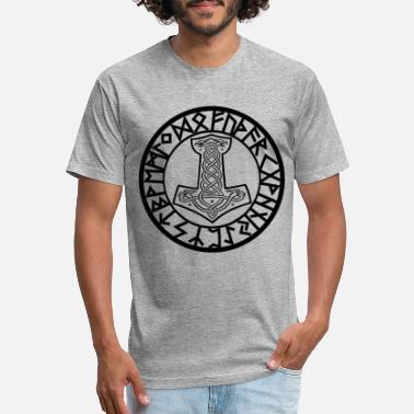 Viking Thors hammer - Unisex Poly Cotton T-Shirt