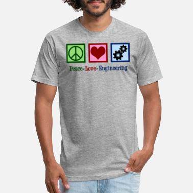 Love It Engineer Peace Love Engineering Cute Engineer - Unisex Poly Cotton T-Shirt