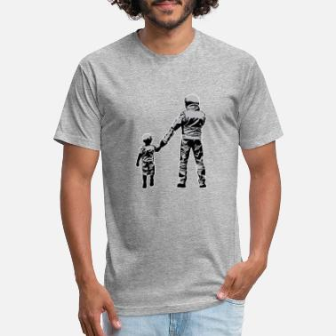 Dirt Bike Rider Dad And Son Dirt Bike Rider - Fitted Cotton/Poly T-Shirt by Next Level