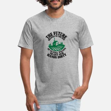 Farm The Future Belongs to The Few Of Us Still Willing - Unisex Poly Cotton T-Shirt