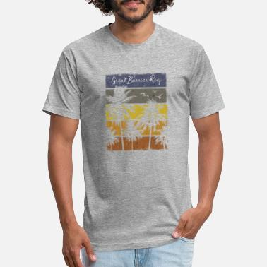 Reef Retro Great Barrier Reef Beach Print Vacation - Unisex Poly Cotton T-Shirt