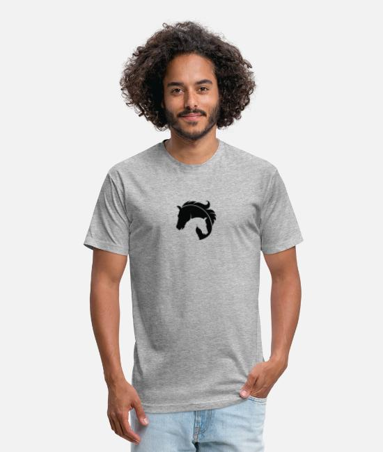 Birthday T-Shirts - Cute merchandise and apparel for horse fans and - Unisex Poly Cotton T-Shirt heather gray