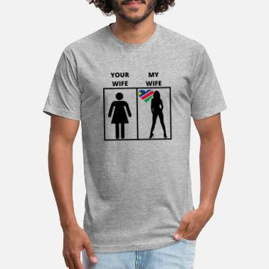 Homepride Namibia geschenk my your wife - Unisex Poly Cotton T-Shirt