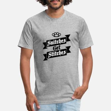 Snitches Get Stitches Snitches Get Stitches Metal Knuckles Famous Saying - Unisex Poly Cotton T-Shirt