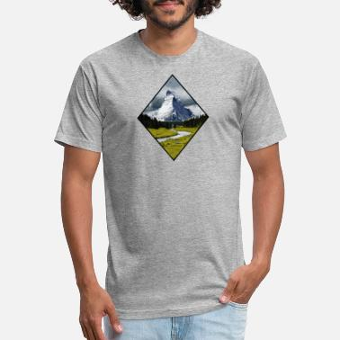 Peak PEAK Mountain peak - Unisex Poly Cotton T-Shirt