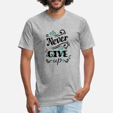 Wake Never Give up - Unisex Poly Cotton T-Shirt