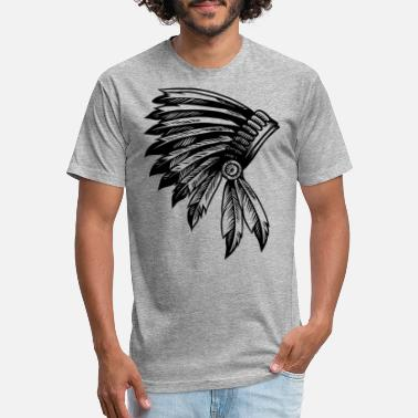 Comanche NATIVE AMERICAN HEAD PIECE SHIRT - Unisex Poly Cotton T-Shirt
