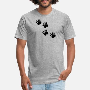 Pawprint cat pawprint - Unisex Poly Cotton T-Shirt