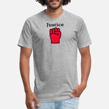 Red Chaos Red justice fist - Fitted Cotton/Poly T-Shirt by Next Level
