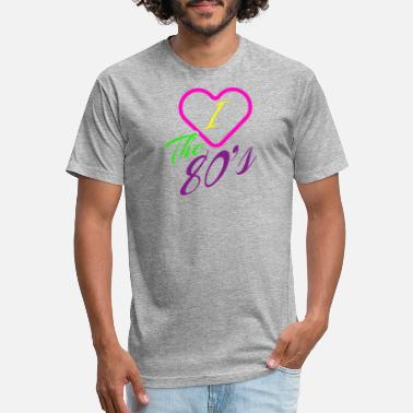 80s Love Child Funny Novelty Gift For 80s Child - Unisex Poly Cotton T-Shirt