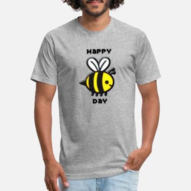 Comic Figure happy bee day - Unisex Poly Cotton T-Shirt