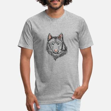 Gray Wolf gray wolf blue eyes - Unisex Poly Cotton T-Shirt