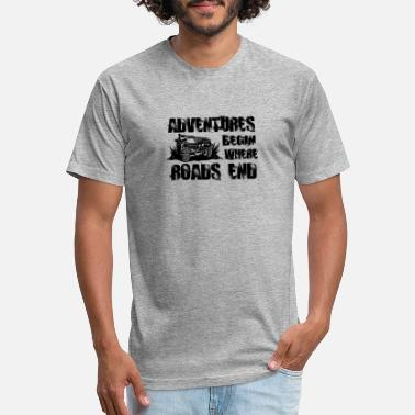 Adventures Begin Where Roads End - Unisex Poly Cotton T-Shirt