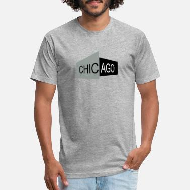 Chicago Words The Word Chicago - Unisex Poly Cotton T-Shirt