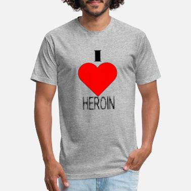 380cab86 Heroine i love heroin - Unisex Poly Cotton T-Shirt