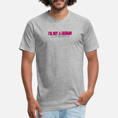 Lesbian Comic I'm Not A Lesbian But My Girlfriend Is - Unisex Poly Cotton T-Shirt