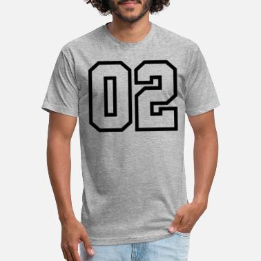Jersey Number 02, Number, Sports, Jersey, Team, Varsity - Unisex Poly Cotton T-Shirt