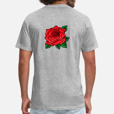Red Rose Red Rose - Unisex Poly Cotton T-Shirt