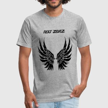 Wings - Fitted Cotton/Poly T-Shirt by Next Level